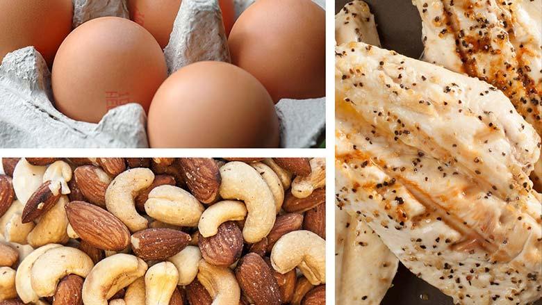 تخم مرغ سینه مرغ آجیل