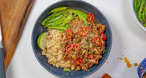 دستور تهیه برنج و گوشت کره ای